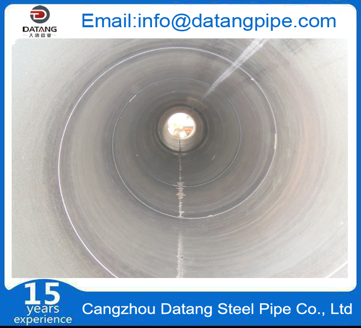 Spiral steel pipe internal thread display
