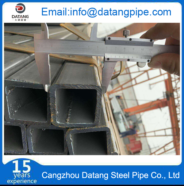 Square steel pipe inspection